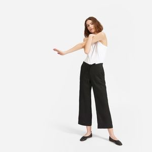 NWOT Everlane The Linen Pant in Washed Black